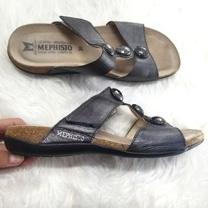 Mephisto Air Relax Genuine Leather Slip on Sandals